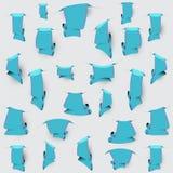 Señales azules con las rayas rosadas Foto de archivo