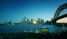 Señales coloreadas de Sydney Fotografía de archivo