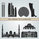 Señales de Abu Dhabi V2 Fotos de archivo