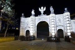 Señales de Alba Iulia - puerta de la fortaleza Foto de archivo