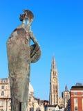 2 señales de Antwerpen, Bélgica Fotos de archivo libres de regalías