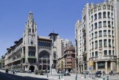 Señales de Barcelona, España Imagen de archivo libre de regalías