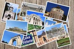 Señales de Bucarest imagenes de archivo
