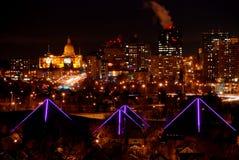Señales de la Navidad de Edmonton fotos de archivo