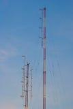 Señales de la torre de Stanchion.Phone Fotos de archivo