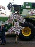 Señales de los granjeros Demostración 2014 del alcalde del señor del desfile Imágenes de archivo libres de regalías