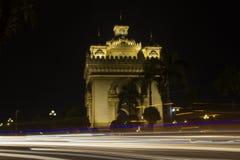 Señales de Patuxay de Laos imagen de archivo libre de regalías