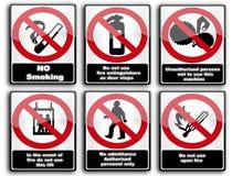 Señales de peligro Fotografía de archivo