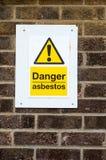Señales de peligro públicas Foto de archivo libre de regalías