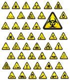 Señales de peligro vidriosas - vector Foto de archivo