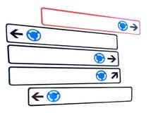 Señales de tráfico del cruce giratorio Imágenes de archivo libres de regalías