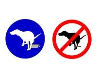 Señales de tráfico para los perros ilustración del vector
