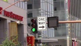 Señales de tráfico Phoenix, Az céntrico almacen de video
