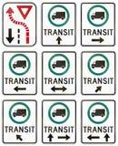 Señales de tráfico reguladoras en Quebec - Canadá Foto de archivo