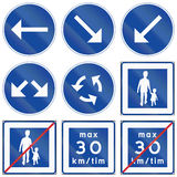 Señales de tráfico reguladoras usadas en Suecia ilustración del vector