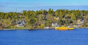 Señales del archipiélago de Estocolmo, Suecia imagenes de archivo