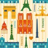 Señales del modelo inconsútil colorido de Francia ilustración del vector