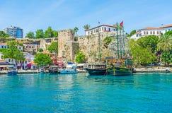 Señales del puerto deportivo de Antalya Imágenes de archivo libres de regalías
