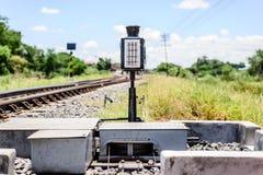 Señales del tren fotos de archivo