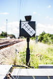 Señales del tren Imágenes de archivo libres de regalías