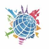 Señales en todo el mundo ilustración del vector