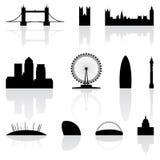 Señales famosas de Londres Foto de archivo libre de regalías