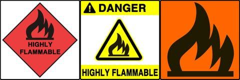Señales fijadas, VI de la precaución/de peligro Imagen de archivo libre de regalías