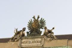 Señales históricas, sitios, estatuas en Europa Oriental imagenes de archivo