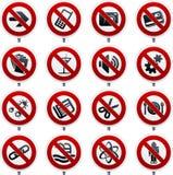 Señales prohibidas Imagen de archivo libre de regalías