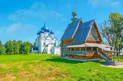 Señales religiosas de Suzdal el Kremlin Fotografía de archivo libre de regalías