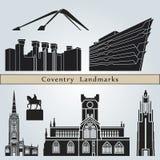 Señales y monumentos de Coventry Fotos de archivo libres de regalías