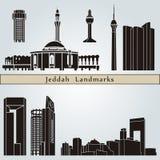 Señales y monumentos de Jedda Fotos de archivo libres de regalías