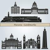 Señales y monumentos de La Habana Foto de archivo libre de regalías