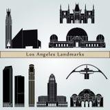 Señales y monumentos de Los Ángeles stock de ilustración