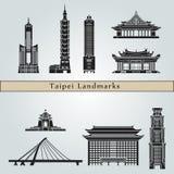 Señales y monumentos de Taipei libre illustration