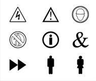 Señales y símbolos de peligro Imagen de archivo