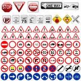 Señales y señales de tráfico Foto de archivo libre de regalías