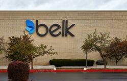 Señalización de los grandes almacenes de Belk Foto de archivo