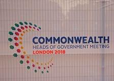 Señalización de los jefes de la Commonwealth gobierno Keeting abril de 2018 Foto de archivo