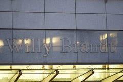 Señalización de Willy Brandt Building WIB imágenes de archivo libres de regalías