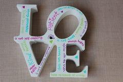 Señalización del amor Fotos de archivo