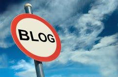 Señalización del blog Foto de archivo libre de regalías