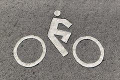 Señalización del carril de bicicleta Imagen de archivo libre de regalías