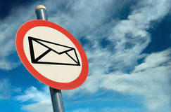 Señalización del email Foto de archivo