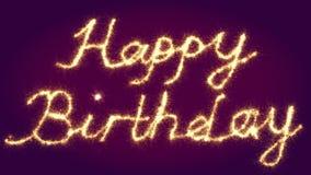 Señalización del feliz cumpleaños Imagen de archivo libre de regalías