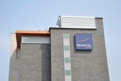 Señalización del hotel de Novotel Fotos de archivo