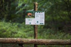 Señalización del parque de naturaleza fotos de archivo