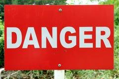 Señalización del peligro Imágenes de archivo libres de regalías