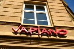 Señalización del restaurante de Vapiano Fotografía de archivo libre de regalías