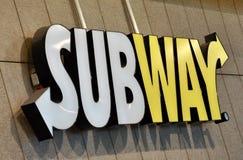 Señalización del restaurante del subterráneo Imágenes de archivo libres de regalías